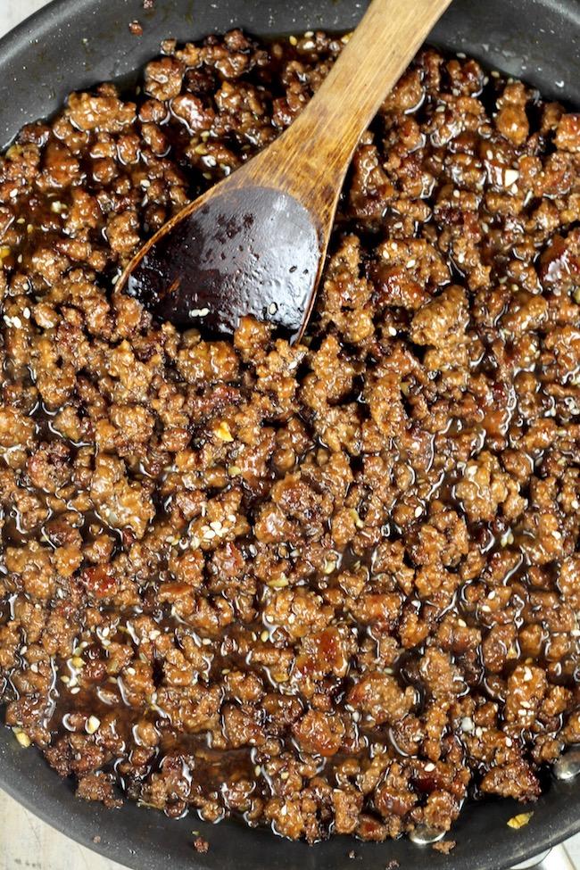 Korean Ground Beef Stir Fry