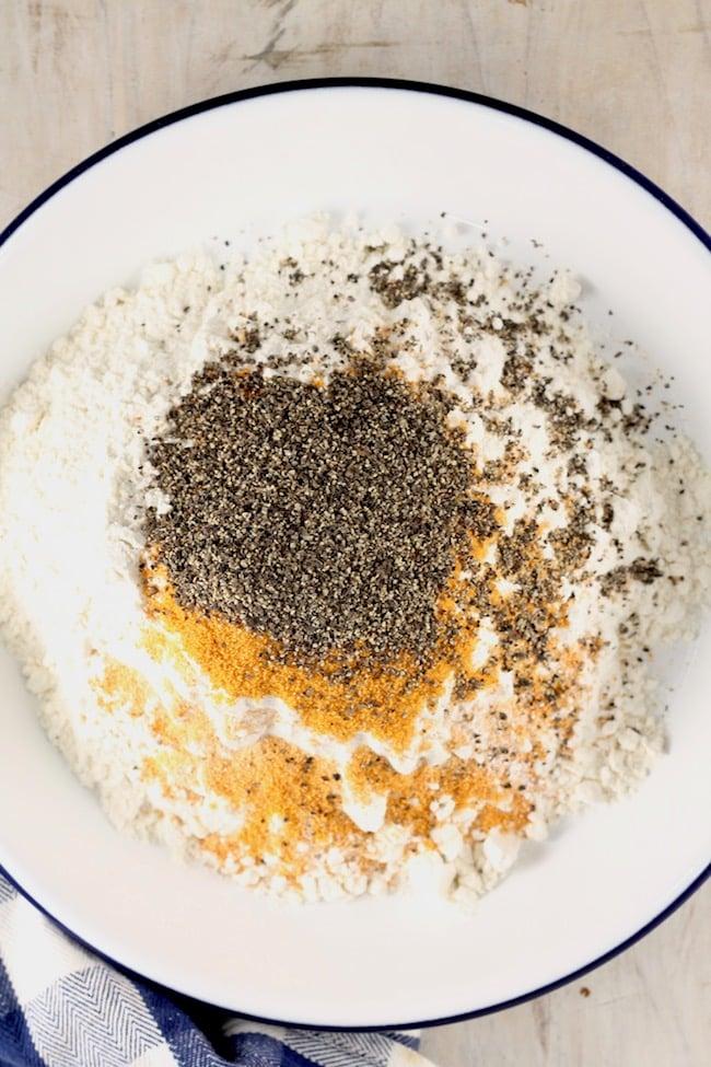 Seasoned flour for fried chicken tenders