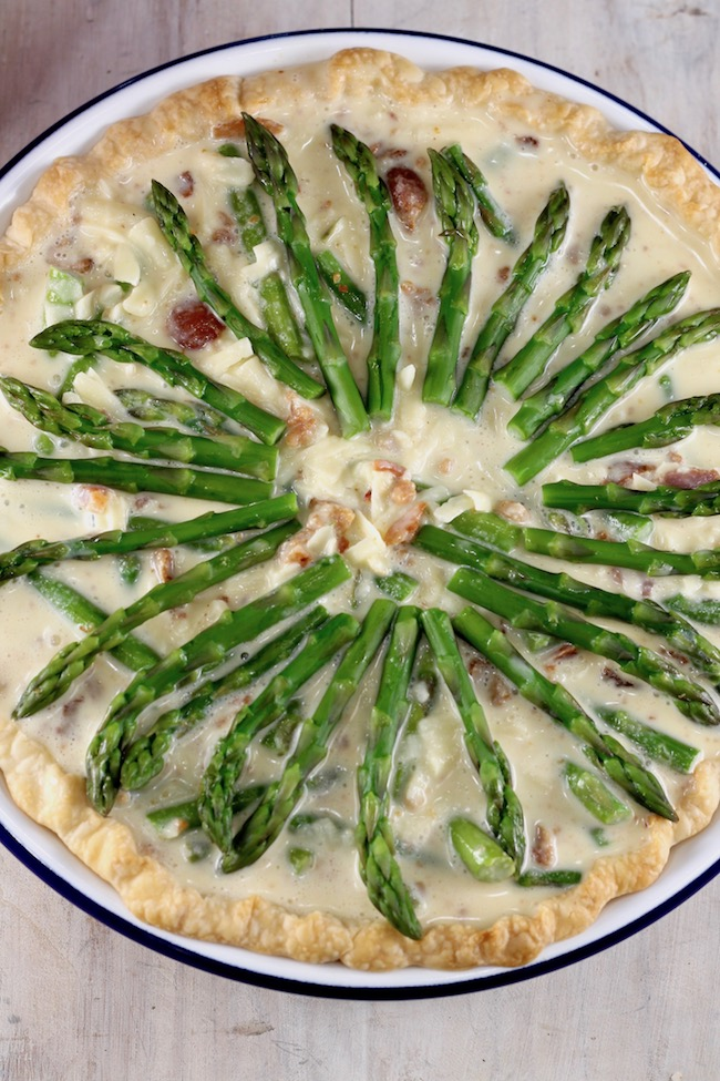Asparagus Quiche ready for the oven