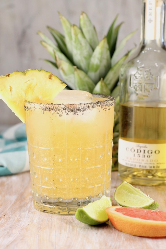 Pineapple Paloma Cocktail made with Codigo 1530 Reposado