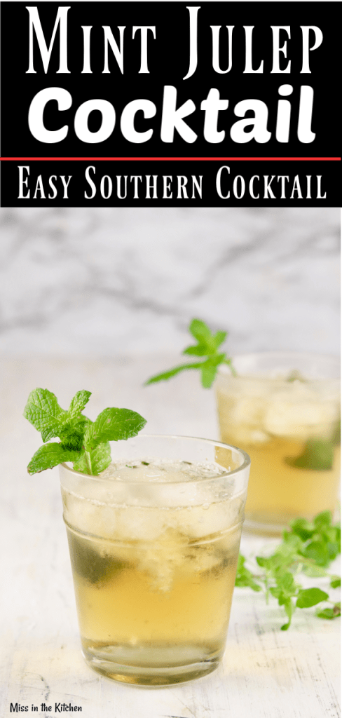 Easy Mint Julep cocktail