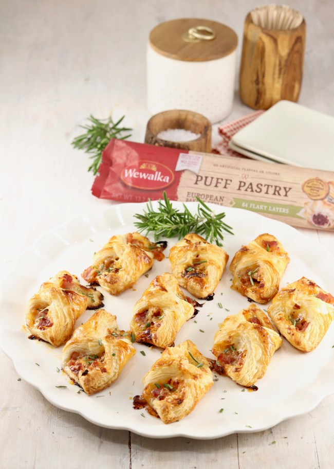 Ham and Cheese Puff Pastry appetizers