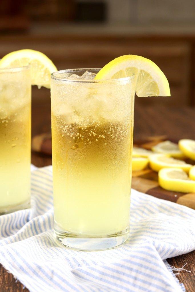 Lemon Shandy in a glass