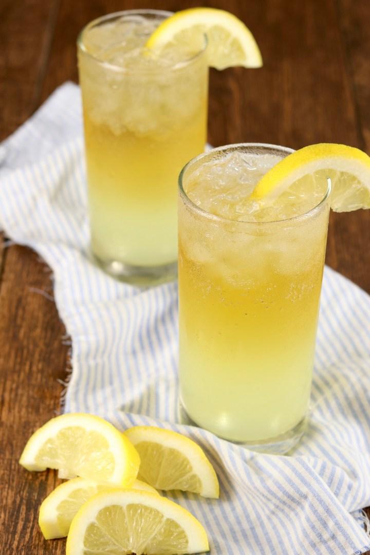 Lemonade & beer cocktail