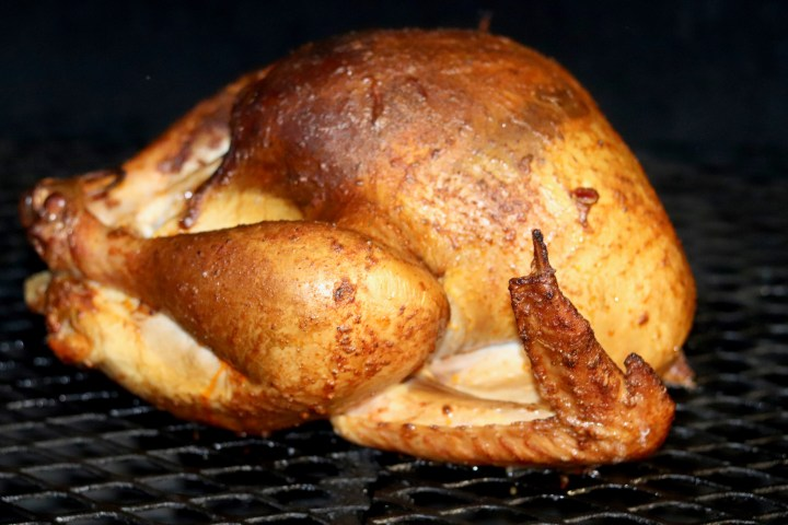 Smoked Turkey on Grill with Cajun spices