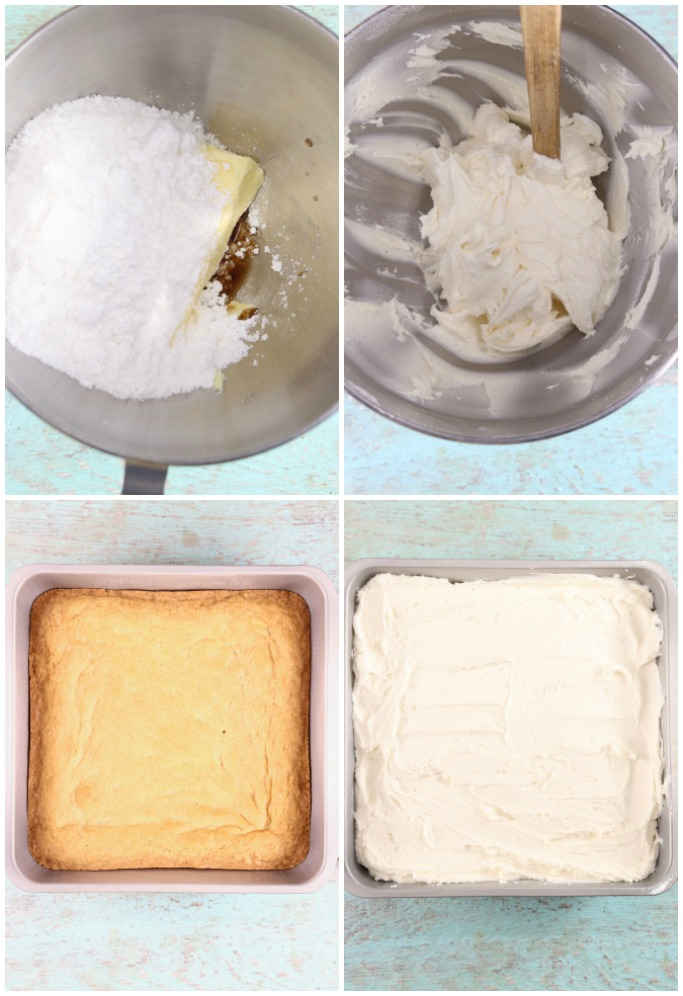 Making frosted cookie bars - step by step photos