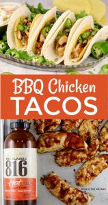 BBQ Chicken Tacos with KC Masterpiece