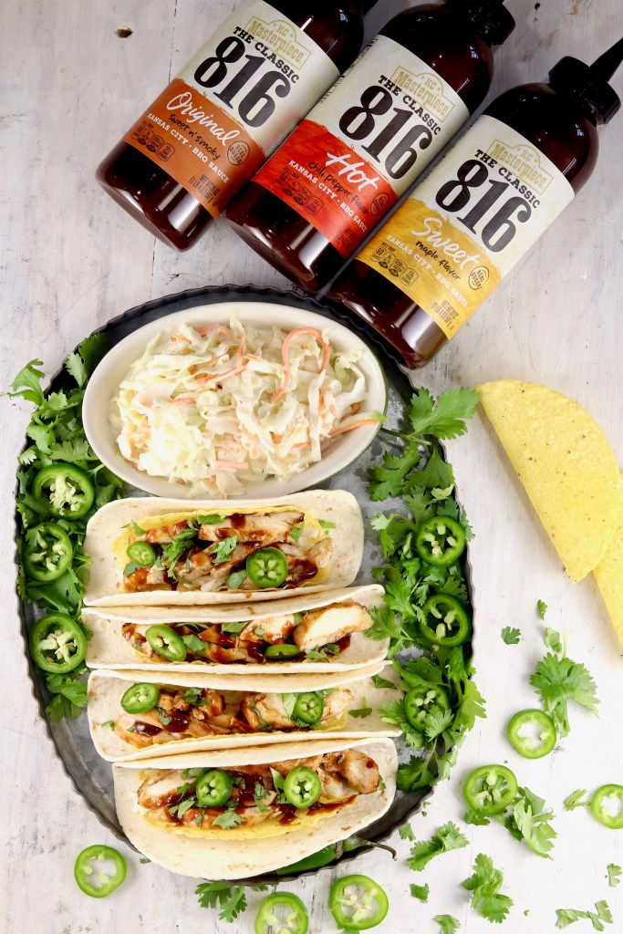 Chicken Tacos and KC Masterpiece 816 BBQ Sauces