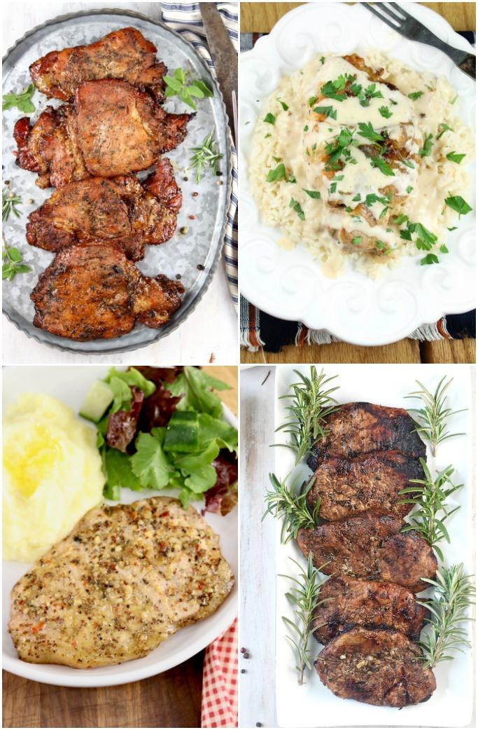 Collage of pork chop recipes