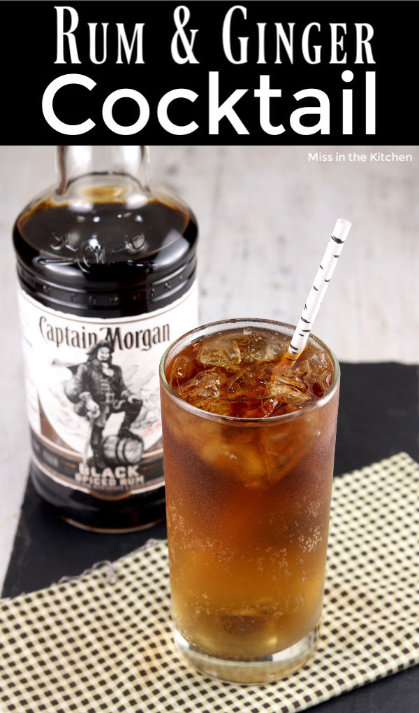 Captain Morgan Spiced Black Rum & Ginger Ale Cocktail