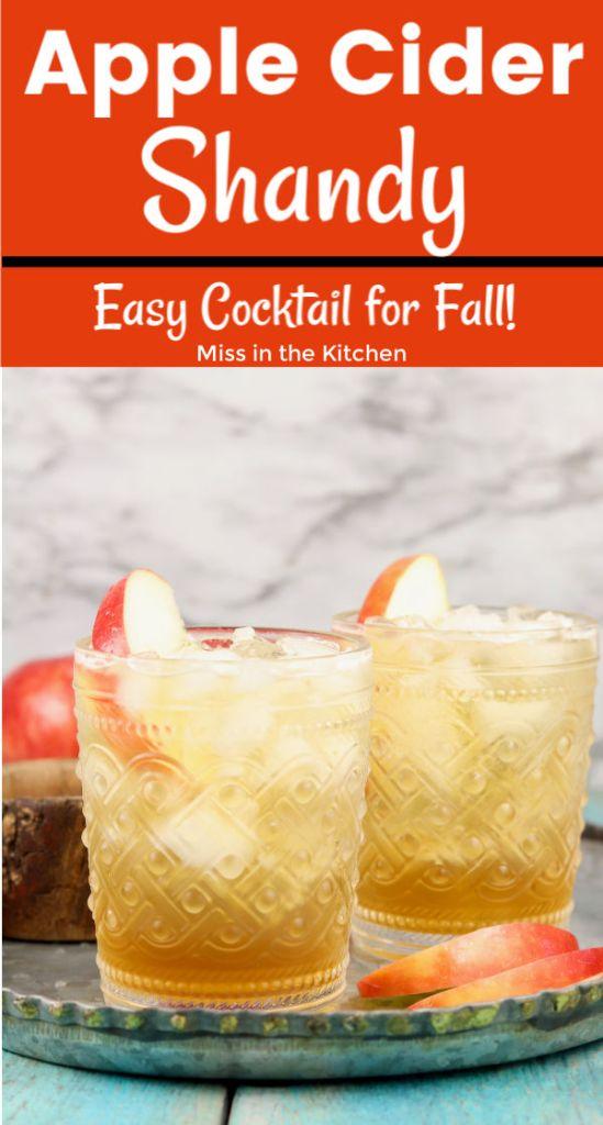 Apple Cider Shandy Cocktail