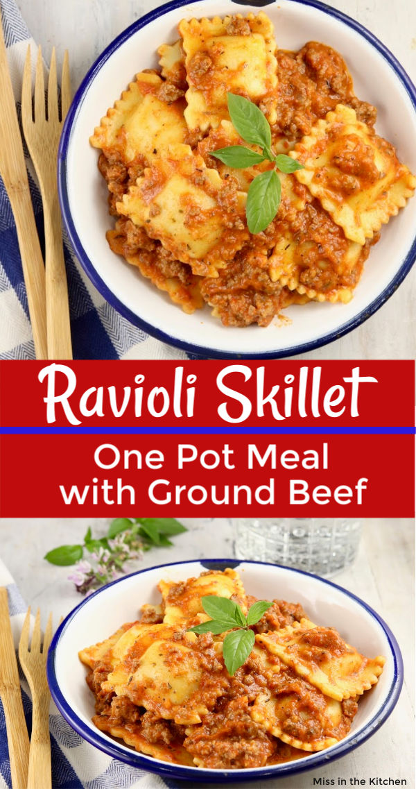 Ravioli Skillet Meal with meat sauce