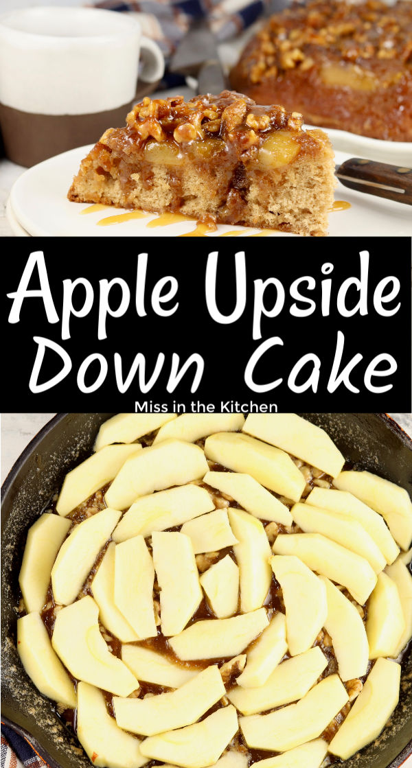 upside down cake with apples