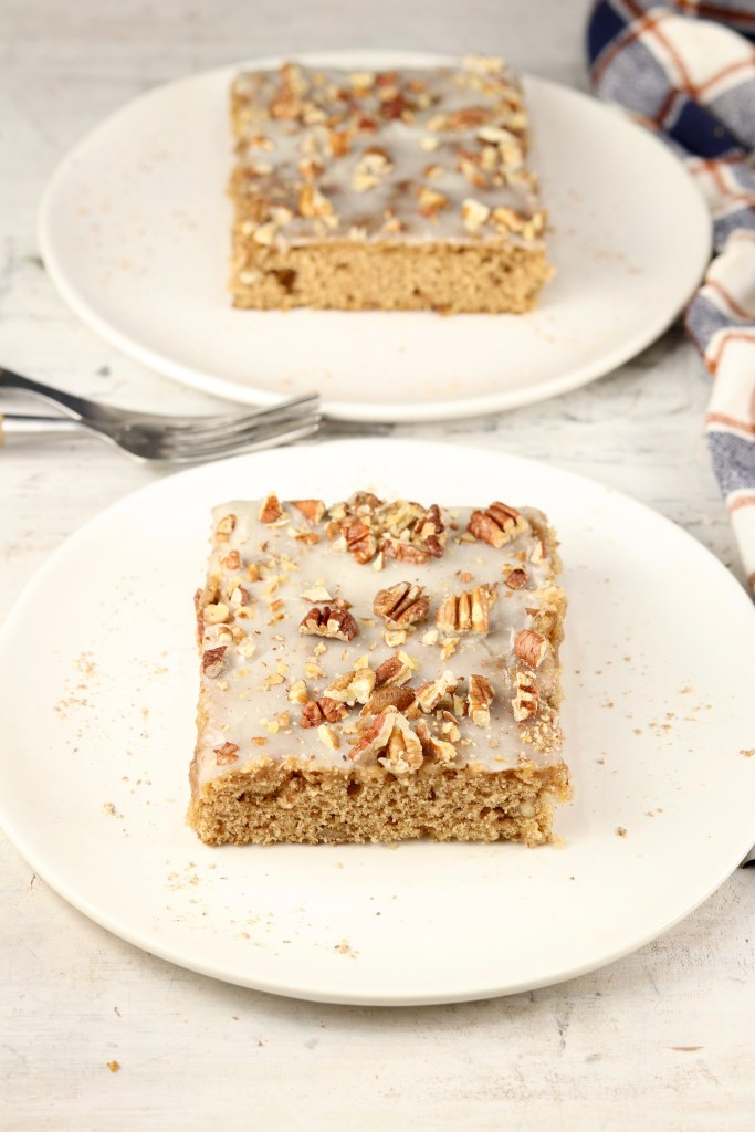 2 slices butter pecan spice cake