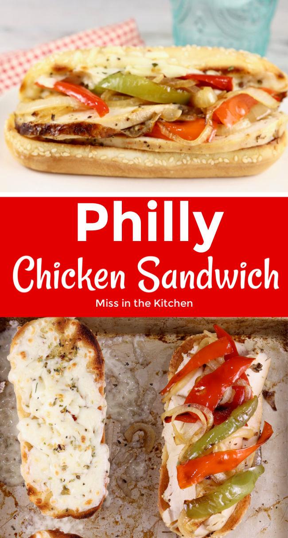 Philly Chicken Sandwich collage