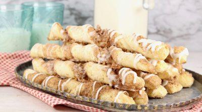 Walnut Cinnamon Twists on a platter