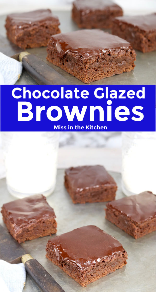 Collage Chocolate Glazed Brownies