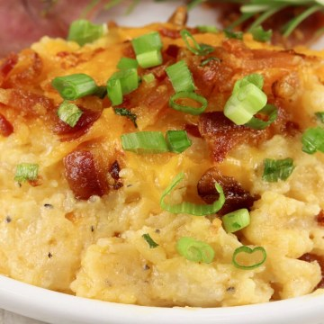 Twice Baked Potato Casserole with bacon