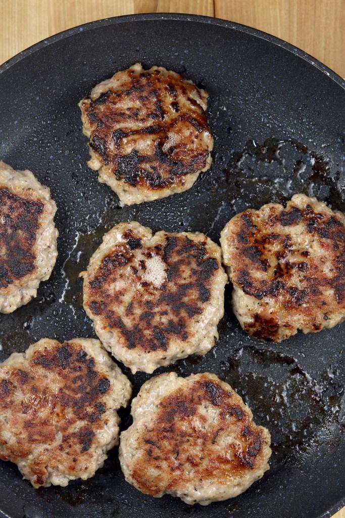 cooked breakfast sausage patties