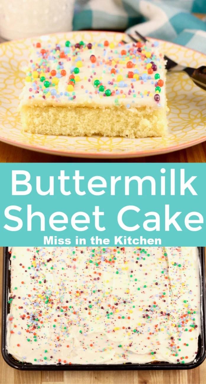 Buttermilk Sheet Cake Collage