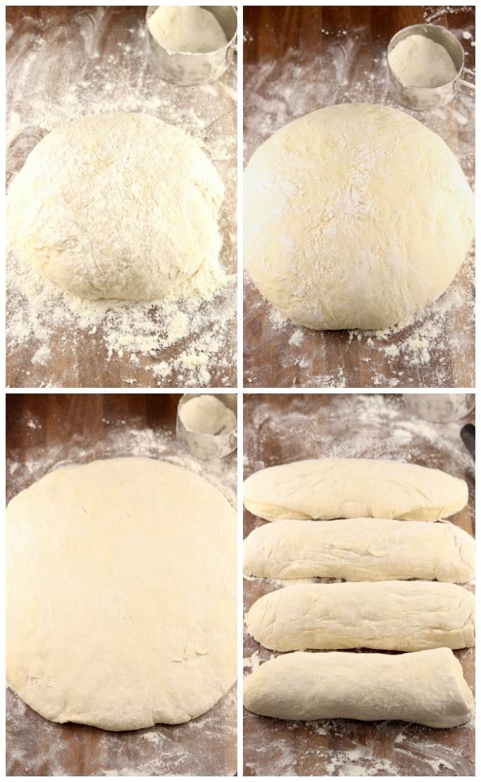 Dough rising for dinner rolls