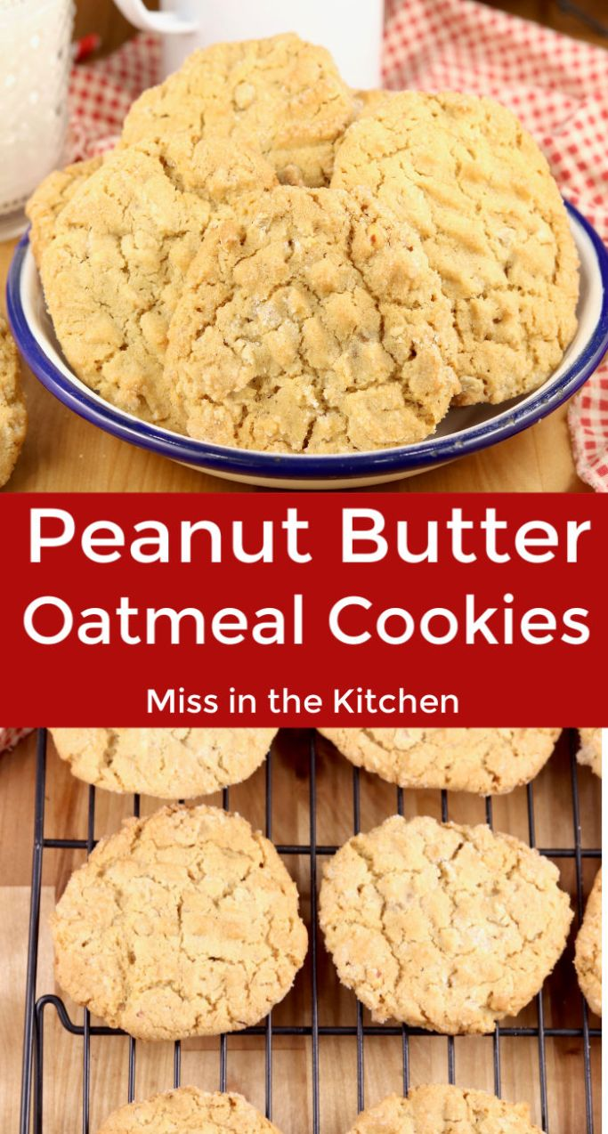 Peanut Butter Cookies with oats