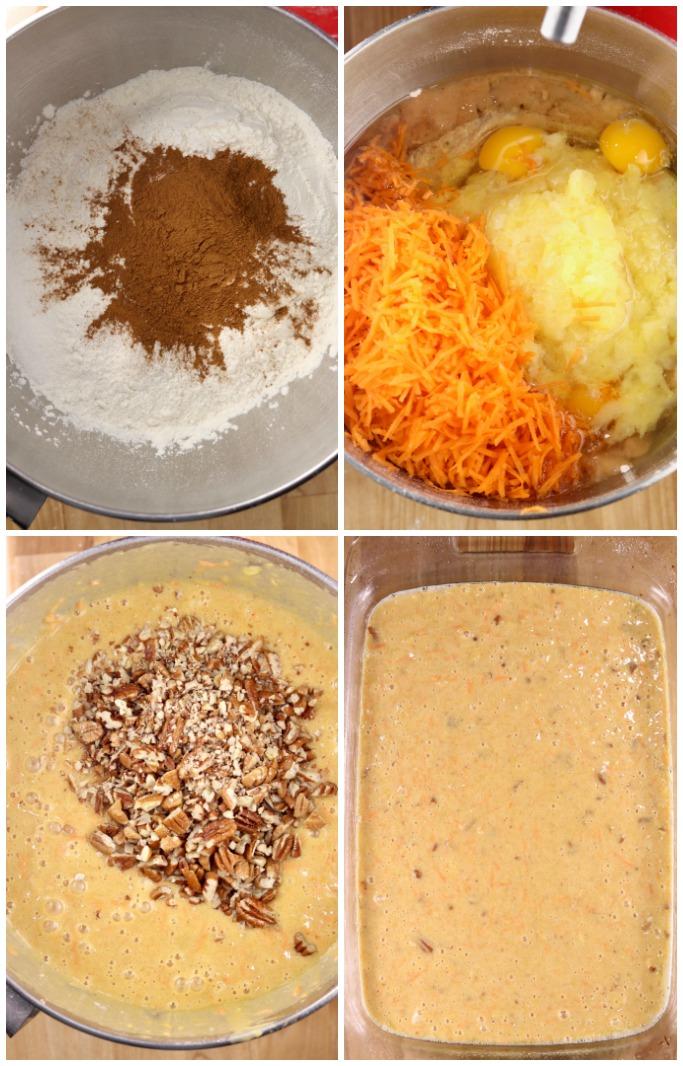 steps to make carrot cake