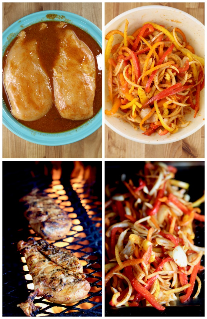 How to grill chicken fajitas