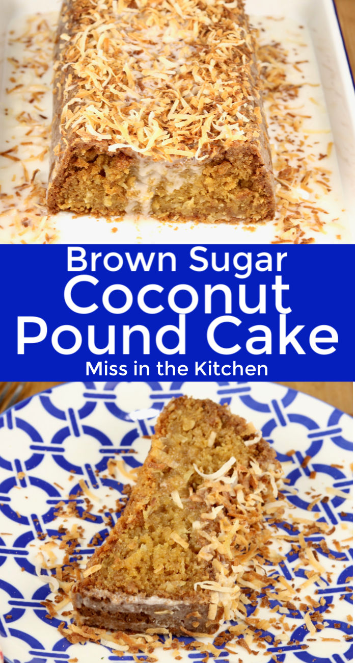 Coconut Pound Cake Collage