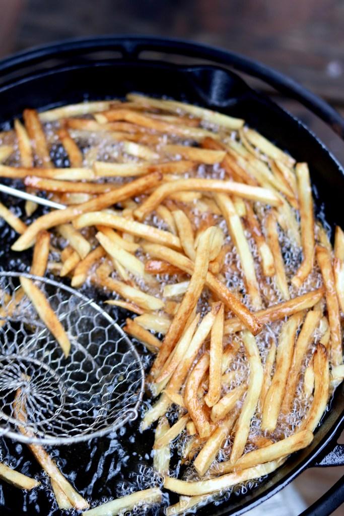 Crispy Fried French Fries in vegetable oil