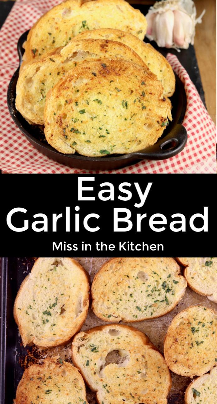 Easy Garlic Bread collage