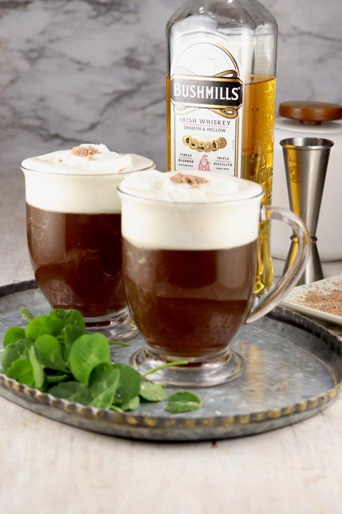 Irish Coffee with whipped cream