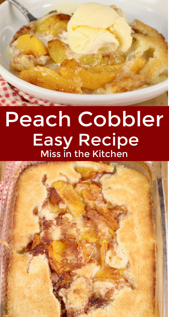Easy Peach Cobbler Collage