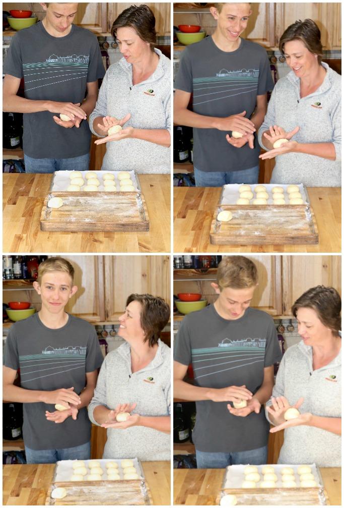 Shaping milk bread honey buns - Platinum Moments