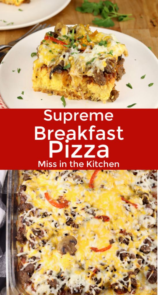 Supreme Breakfast Pizza