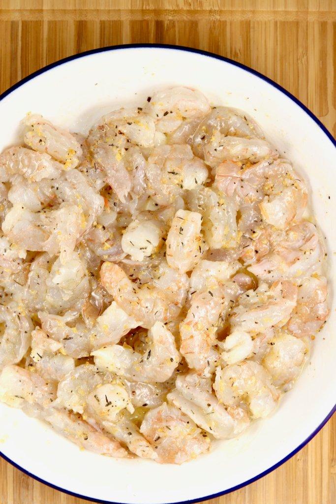 garlic and herb buttered shrimp