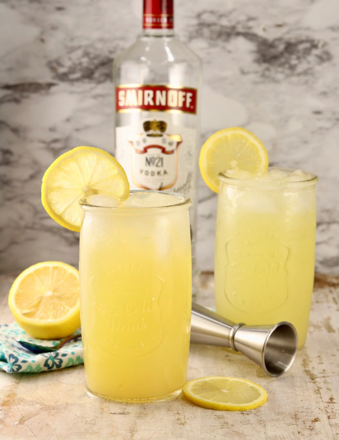 Lemonade Cocktail with vodka