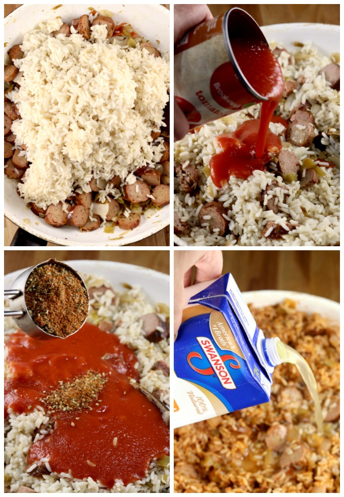HOw to make sausage rice skillet