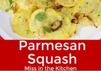 Collage photo - parmesan squash with sliced squash