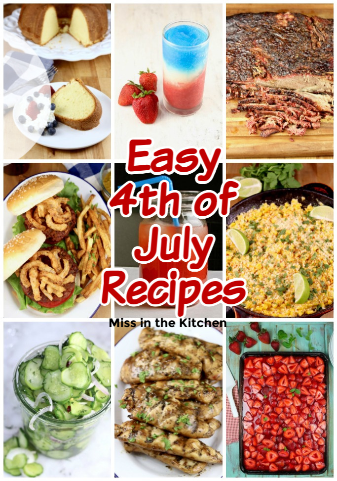 Easy 4th of July Recipes Collage