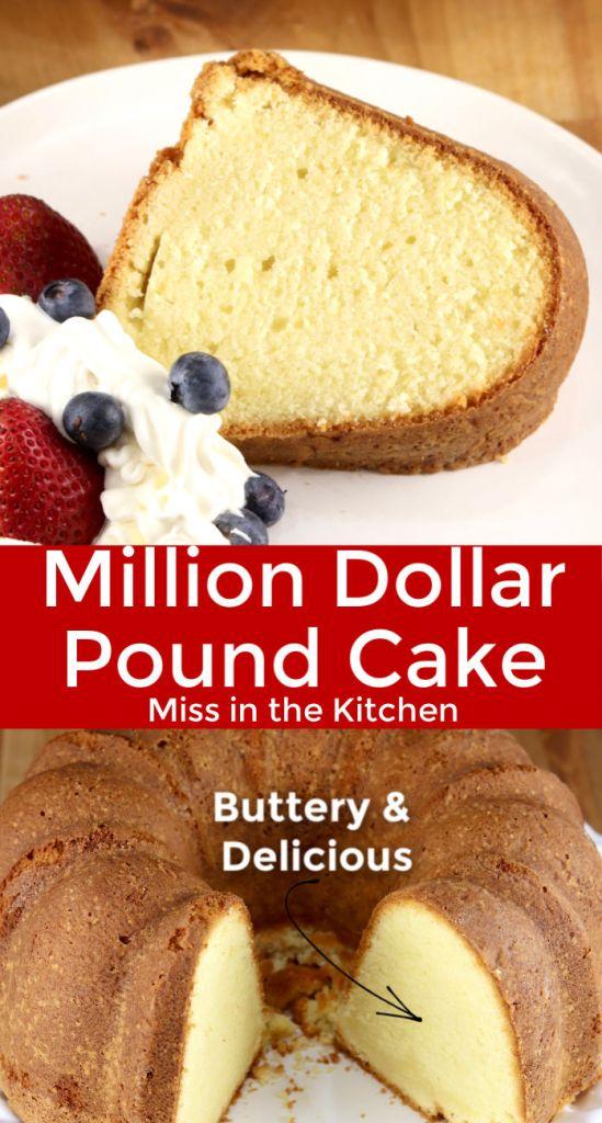Million Dollar Pound Cake collage