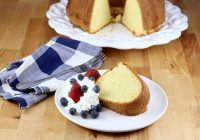 Million Dollar Pound Cake with berries and whipped cream