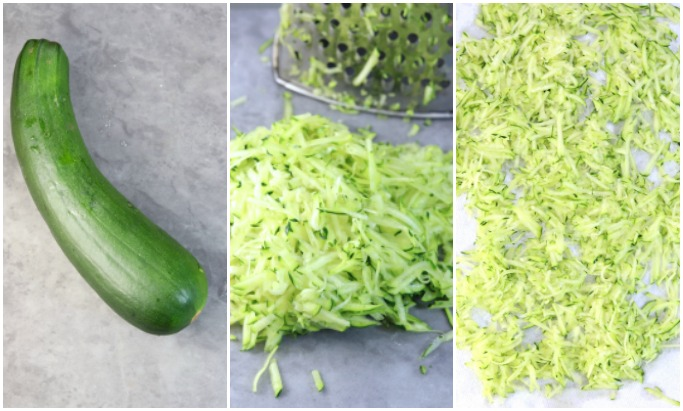 Zucchini whole, shredded