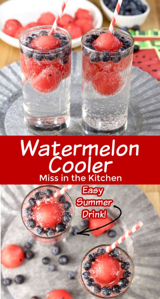 Watermelon Cooler Collage