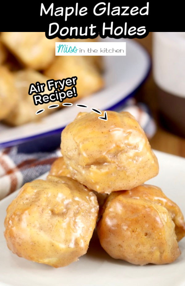 Air Fryer Donut Holes with text overlay