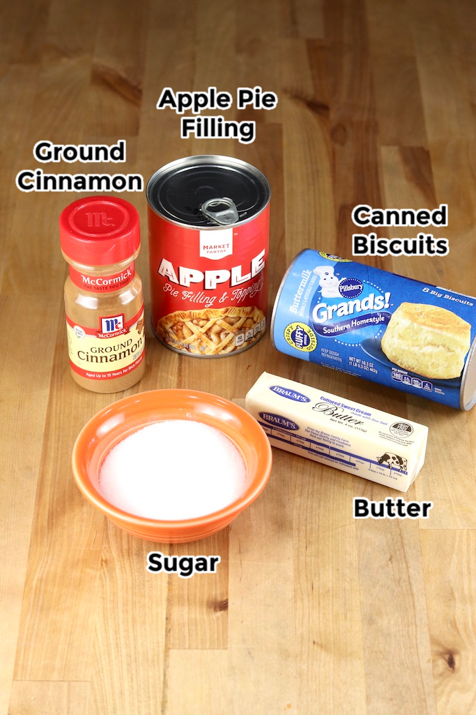 Ingredients for apple pie bombs