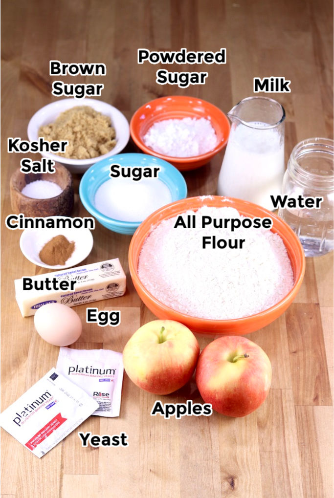 Ingredients for Apple Coffee Cake