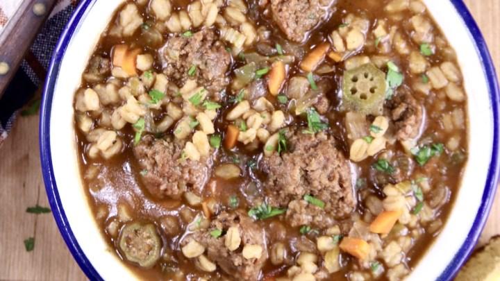 Smoked Sausage Barley Soup