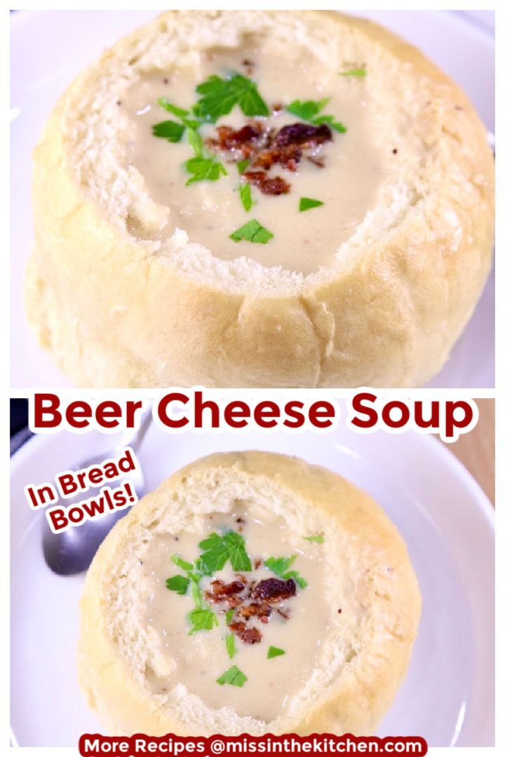 Beer Cheese Soup Collage with text overlay