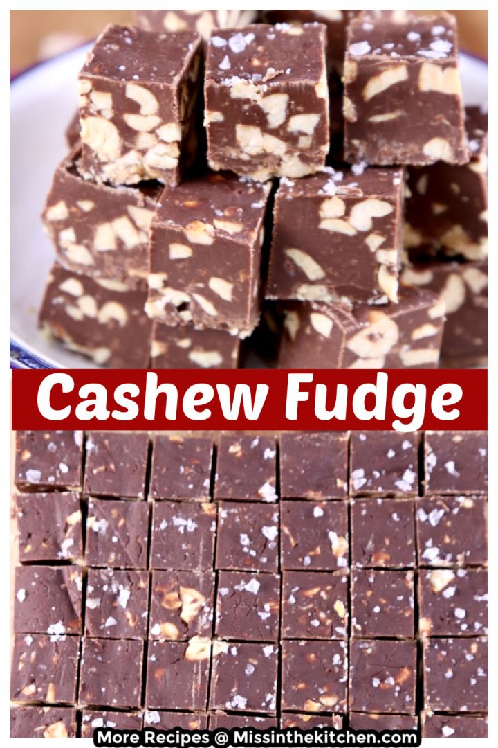 Cashew Fudge collage